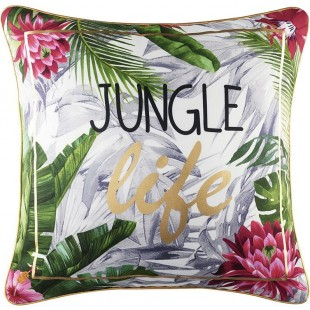 Zamatová obliečka na vankúš s tropickým motívom