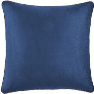 Moderná zamatová modrá obliečka na vankúš jednofarebná