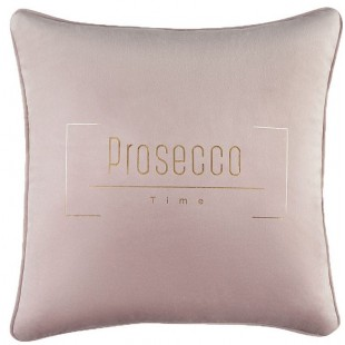 Moderná zamatová svetlosivá obliečka na vankúš Prosecco