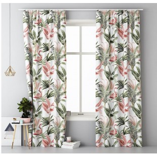 Záves na okno s riasiacou páskou vzor Tropical