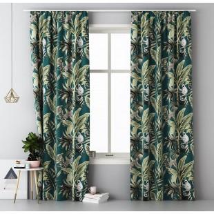 Záves na okno s riasiacou páskou a exotickým vzorom AMAZON SPIRIT