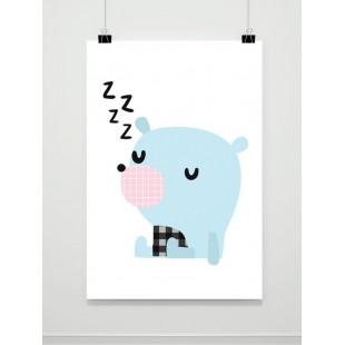 Detský plagát spiaca myška