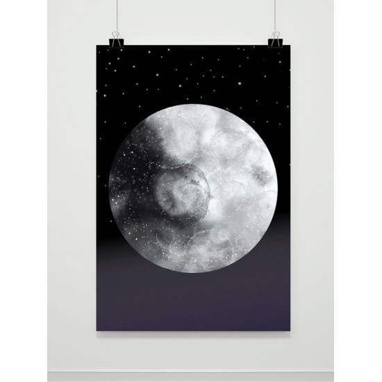 Plagát na stenu s motívom Mesiaca