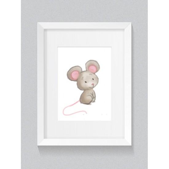 Detský plagát s motívom myšičky