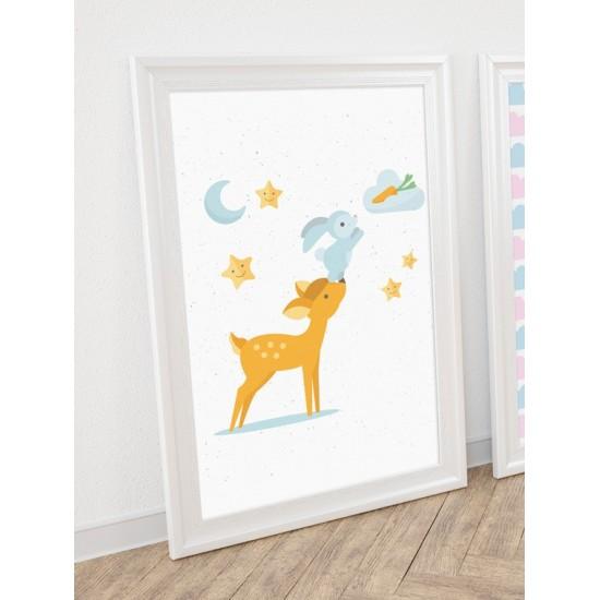 Detský plagát s motívom zvieratiek