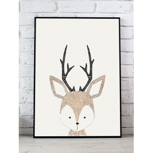 Plagát na stenu do detskej izby s motívom jelenčeka