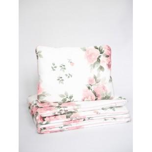 Detská posteľná bielizeň s výplňou a motívom ruží