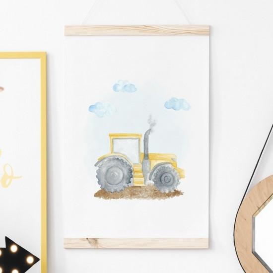 Plagát na stenu s motívom traktora