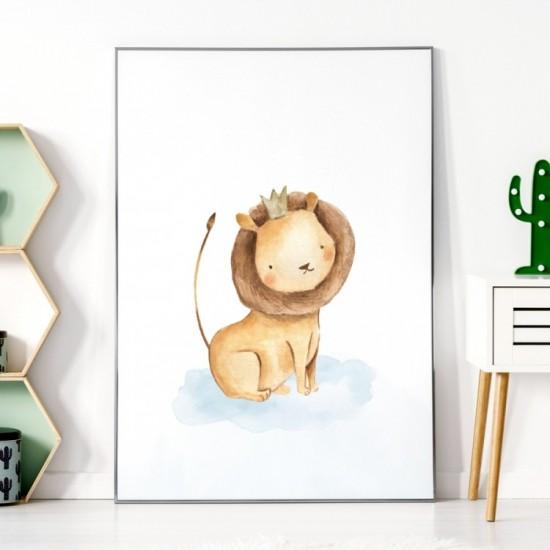 Detský plagátik na stenu s levíkom
