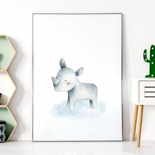 Detský plagátik na stenu s nosorožcom