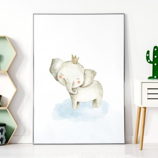 Detský plagátik na stenu so sloníkom