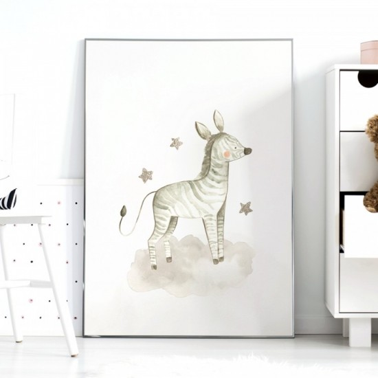 Detský plagátik na stenu so zebričkou a hviezdičkami