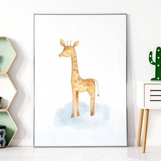 Detský plagátik na stenu so žirafkou