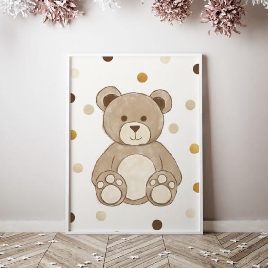 Plagát na stenu s motívom medvedíka