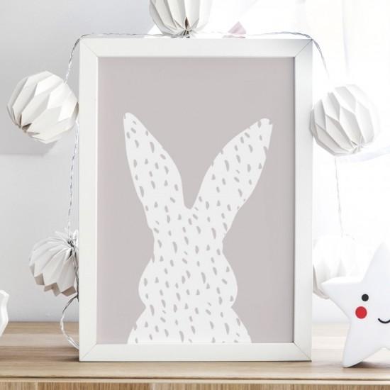 Plagát na stenu s králikom