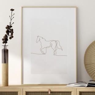 Plagát na stenu s profilom koňa