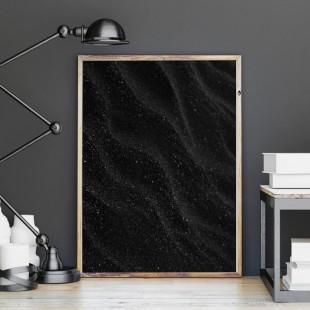 Plagát na stenu s motívom čierneho piesku