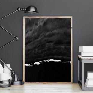 Plagát na stenu s motívom čierneho prílivu