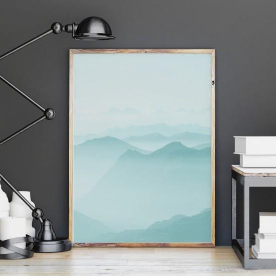 Plagát na stenu s motívom hôr