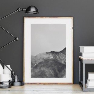 Plagát na stenu s pohľadom na hory