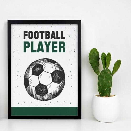 Plagát na stenu s futbalovou loptou