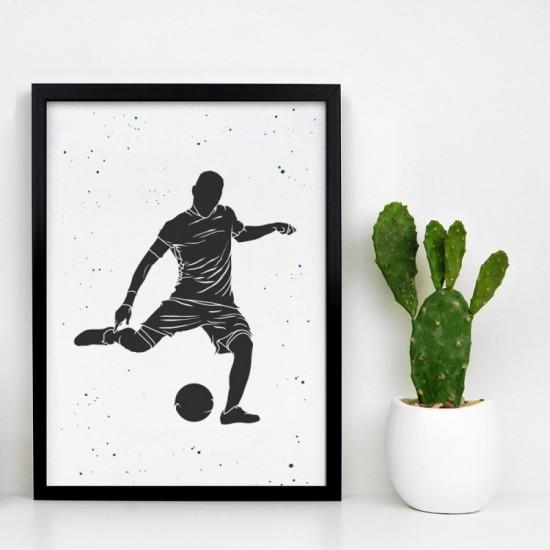 Plagát na stenu s futbalistom