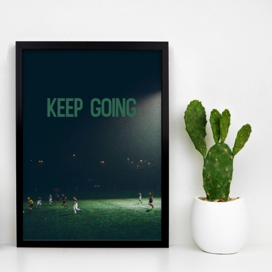 Plagát na stenu s futbalistami na ihrisku