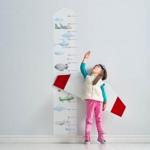 Detská nálepka na meranie výšky - vzor lietajúce dopravné prostriedky