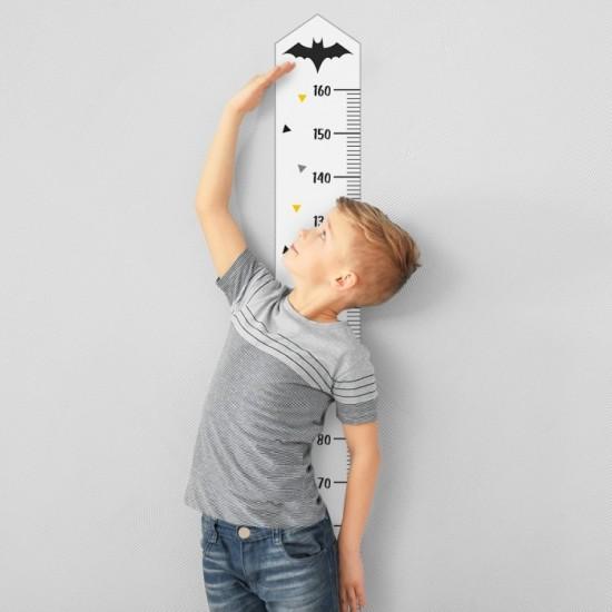 Detská nálepka na meranie výšky - vzor hrdinovia