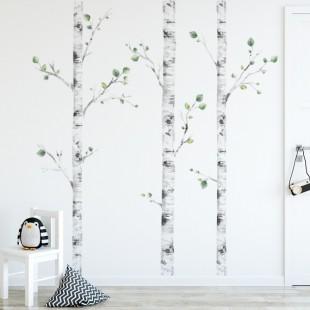 Sada nálepiek na stenu - vzor brezy