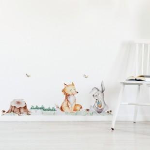 Nálepka na stenu v podobe trávičky