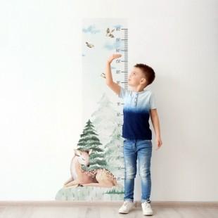 Detská nálepka na meranie výšky - vzor jelenica