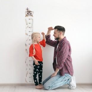 Detská nálepka na meranie výšky - vzor sovička