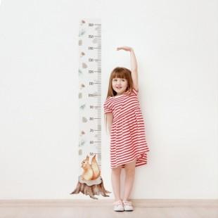 Detská nálepka na meranie výšky - vzor veverička
