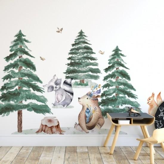 Sada detských nálepiek s motívom zvieratiek z lesa