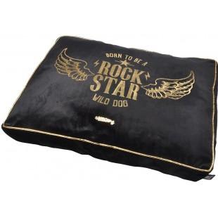 Čierne ležovisko pre zvieratká ROCK STAR