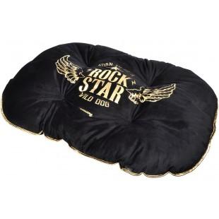 Zlato čierne ležovisko pre zvieratká ROCK STAR