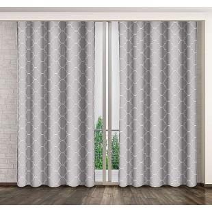 Sivo biely záves s marockým vzorom
