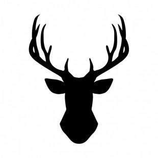Nálepka na stenu s motívom čierneho jeleňa