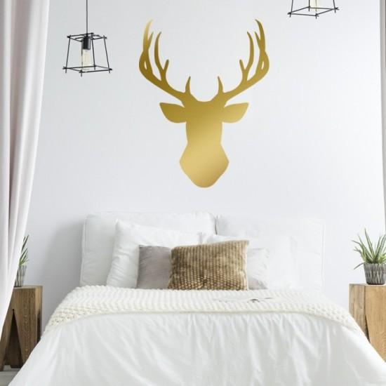Nálepka na stenu s motívom zlatého jeleňa