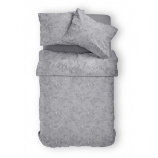 Elegantné sivé posteľné návliečky zo saténovej bavlny