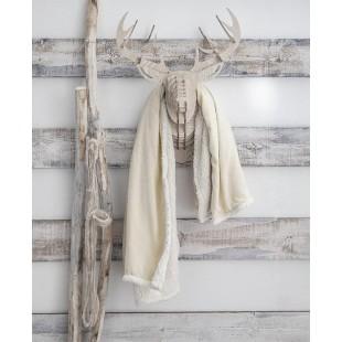 Kožušinková teplá deka v krémovej farbe