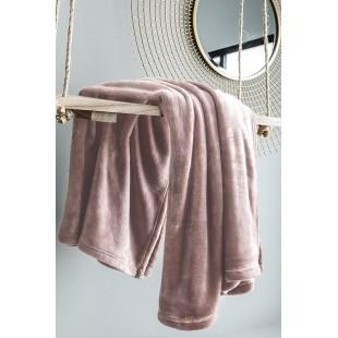 Jednofarebná ružová deka z mikroplyšu