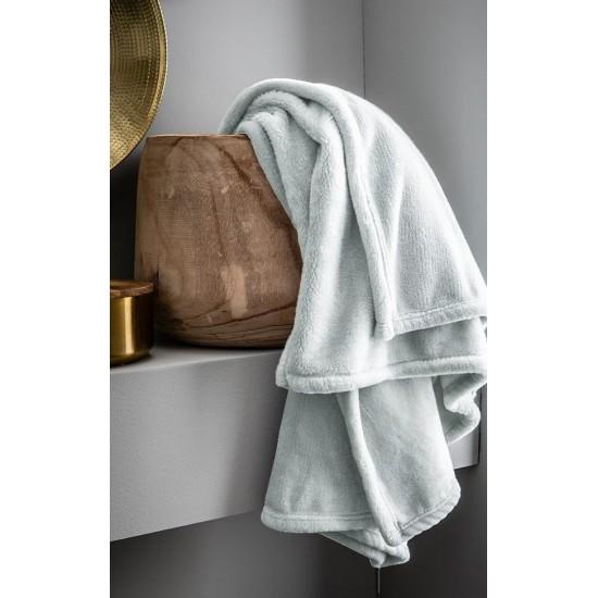 Jednofarebná svetlosivá deka z mikroplyšu