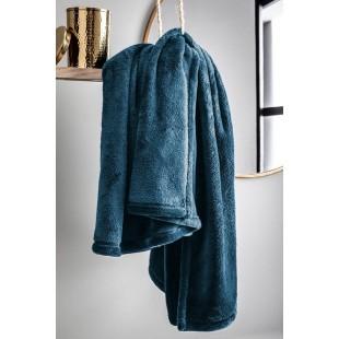 Jednofarebná tmavomodrá deka z mikroplyšu
