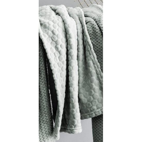Moderná mentolová mäkká deka