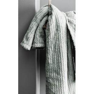 Moderná mentolová mäkká deka s cik-cak vzorom