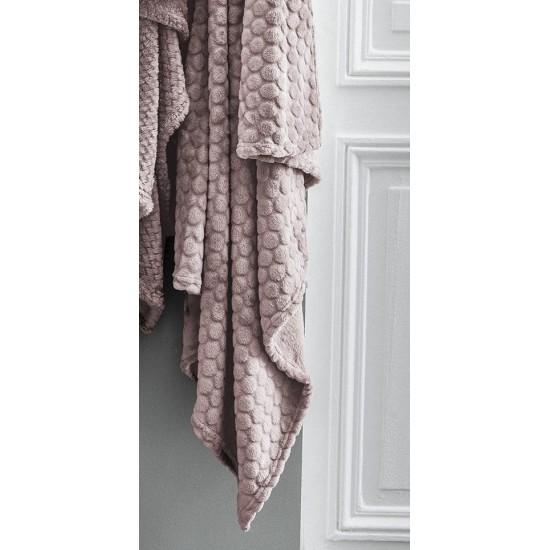 Moderná ružová mäkká deka s kruhovým motívom