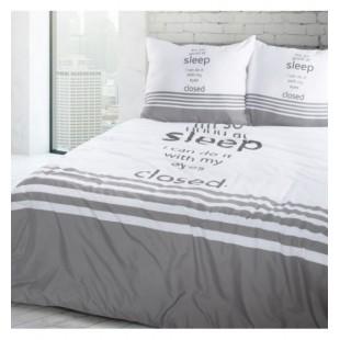 Bielo sivo čierne posteľné obliečky z mikrovlákna SLEEP