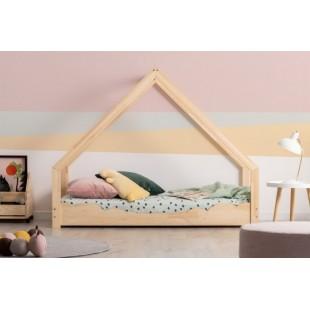 Drevená posteľ domček s obláčikovou bočnicou